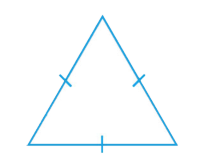 Equilateral-all three sides are equal also all  the angles are equal, all 60°.