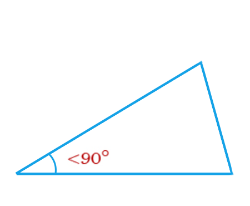 Acute angled triangle – is a triangle with only one acute internal angle.