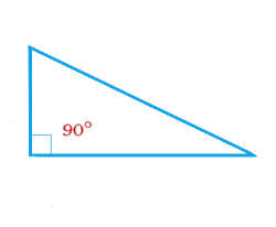 Right angle triangle – is a triangle with a right angle.
