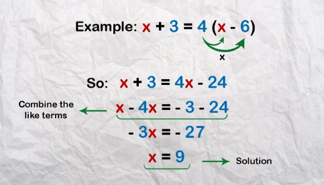 Worked examples - First degree equations